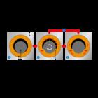 A-10-15-12 hengeres szinterbronz csapágy